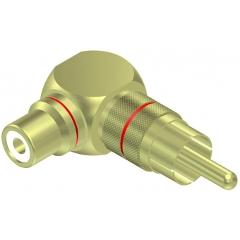 VC215 - Adapter Rca/cinch Male -female - Angled - Pair