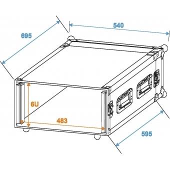 ROADINGER Amplifier Rack PR-2ST, 6U, 57cm deep #2