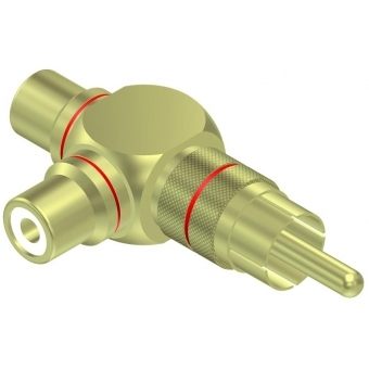 VC220 - T Adapter Rca/cinch Male - 2xfemale - Pair