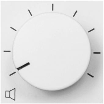 VC3208/W - Remote Volume Controller - 45x45mm - White