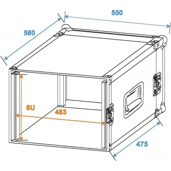 ROADINGER Amplifier Rack PR-2, 8U, 47cm deep #2
