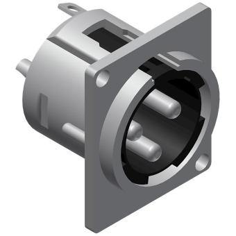 VC3MDL-P - Connector Xlr Male - D-sizepanel - 50 Pcs Pack