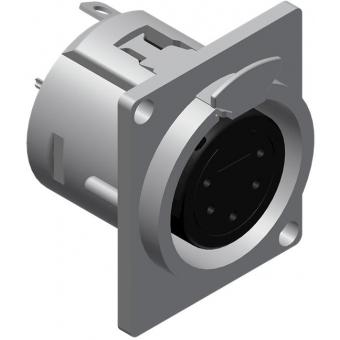 VC5FDL - 5-pins Xlr Connector Femalepanel,d-version