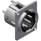 VC5MDL - 5-pins Xlr Connector Malepanel, D-version