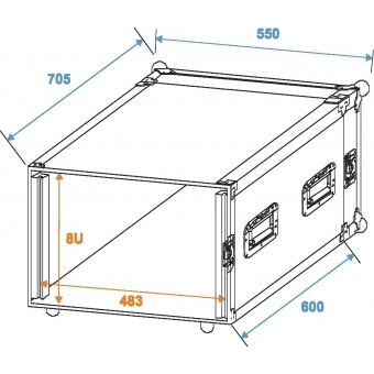 ROADINGER Amplifier Rack PR-2ST, 8U, 57cm deep #2