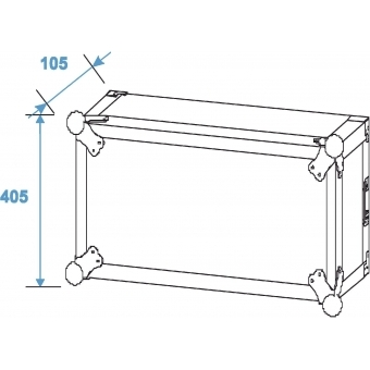 ROADINGER Amplifier Rack PR-2ST, 8U, 57cm deep #5