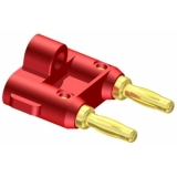 VCB20-P - 2 Pole Banana Connector Red-10 Pcs Pack
