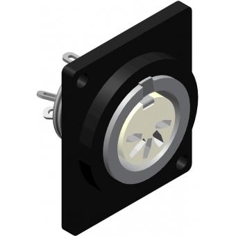VCD20 - D-size Din 5-pole Femaleconnector