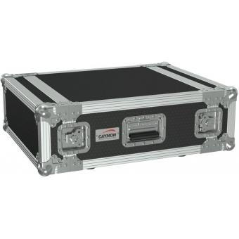 "FC104/B - 19"" Flightcase - 4he - 507mm Depth - Black"