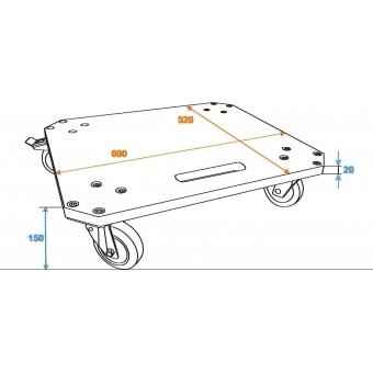 ROADINGER Wheel Board MDF 4 wheels 2 brakes #3