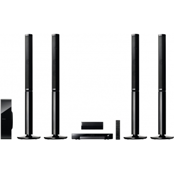 5.1 Channel Media Centre System with tall speakers and Wi-Fi connectivity