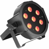 Cameo FLAT PAR CAN TRI LED 3W IR - 7 x 3 W - black