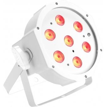 Cameo FLAT PAR CAN TRI LED 3W IR - 7 x 3 W - white