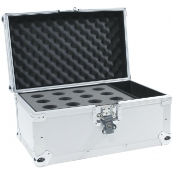 ROADINGER Microphone Case Road 12 Microphones sil