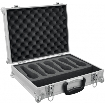 ROADINGER Microphone Case Road 7 Microphones silver #3