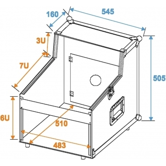 ROADINGER Special Mixer/CD Player Case 3/7/6U #2