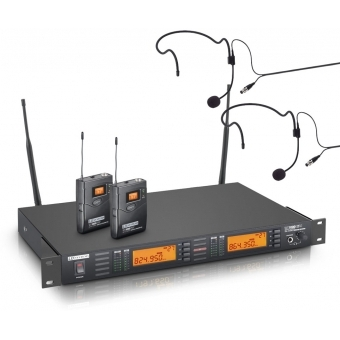Sistem wireless dublu headset LD Systems - WS 1000 G2 BPH2