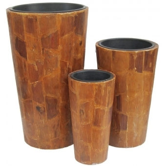 "EUROPALMS Deco pot set ""AFRICA"" 74/54/44cm"