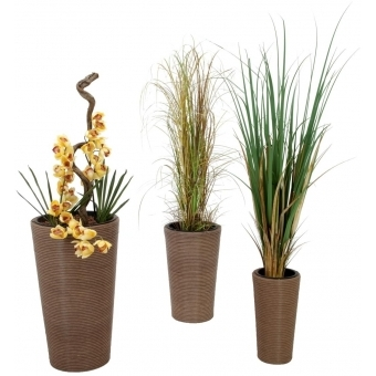 "EUROPALMS Deco pot set ""INDIA"" 74/54/44cm #2"