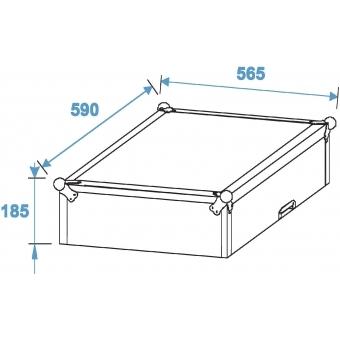 ROADINGER Special Combo Case LS5 Laptop-Desk, 8U #11