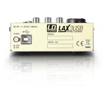 Mixer USB 3 canale LD Systems LAX 3 USB #3