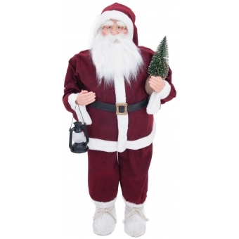 EUROPALMS Santa claus with small tree, 120cm