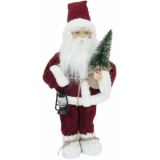 EUROPALMS Santa claus with small tree, 45cm