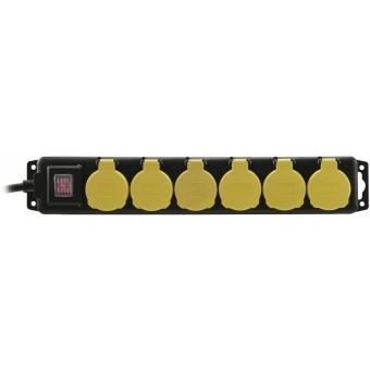 EUROLITE Distributor 6-fold IP44 bk 3m #2
