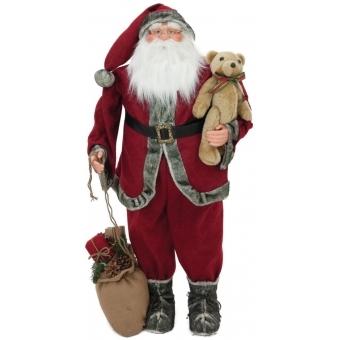 EUROPALMS Santa claus with teddy, 120cm