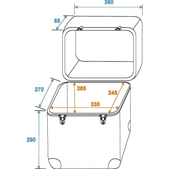 ROADINGER Record Case ALU Maxi Booking, rounded #2