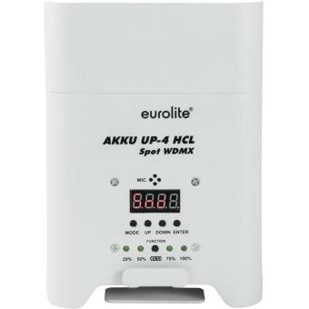 EUROLITE AKKU UP-4 HCL Spot WDMX wh #4