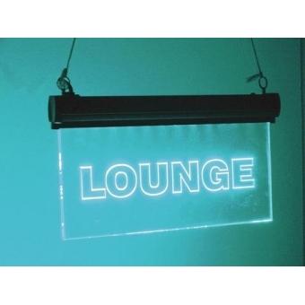 LED sign Lounge, RGB