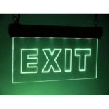 LED sign EXIT, RGB