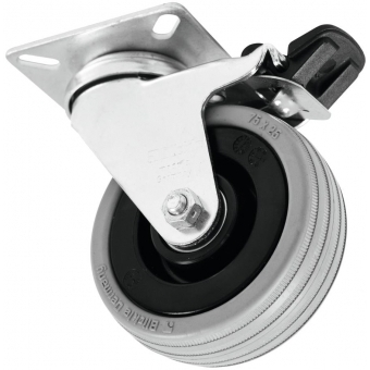 ROADINGER Swivel Castor 75mm grey with brake #1