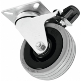 ROADINGER Swivel Castor 75mm grey with brake