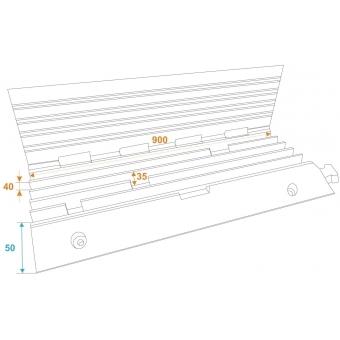 EUROLITE Cablebridge 5 Channels 900x500x50mm #9
