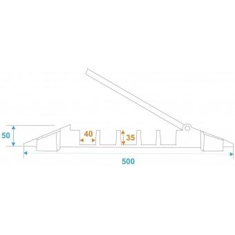 EUROLITE Cablebridge 5 Channels 900x500x50mm #11