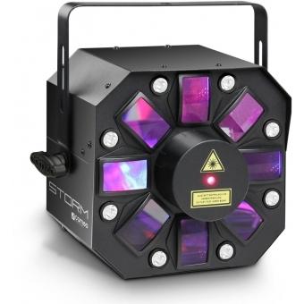 Efect lumini Cameo STORM 3 in 1 Derby, Stroboscop si Laser