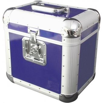 ROADINGER Record Case ALU 75/25, rounded, blue