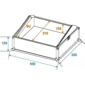 ROADINGER Mixer Case Pro MCB-19, sloping, bk, 6U #2