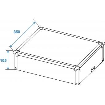 ROADINGER Mixer Case Pro MCB-19, sloping, bk, 6U #9