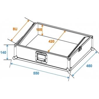 ROADINGER Mixer Case Pro MCBL-19, 8U #7