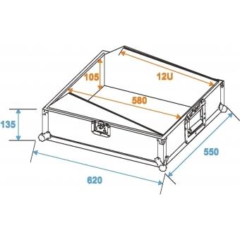 ROADINGER Mixer Case Pro MCBL-19, 12U #2