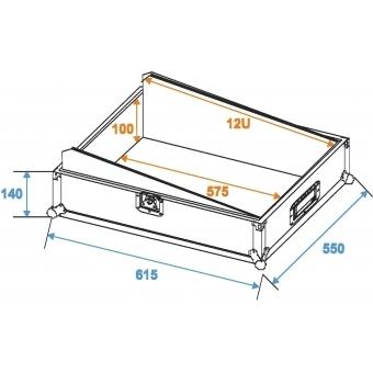 ROADINGER Mixer Case Pro MCB-19 sloping, bk, 12U #2
