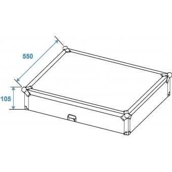 ROADINGER Mixer Case Pro MCB-19 sloping, bk, 12U #8