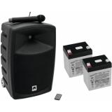 OMNITRONIC Set WAMS-10BT1 + batteries