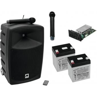 OMNITRONIC Set WAMS-10BT1 + microphone + batteries