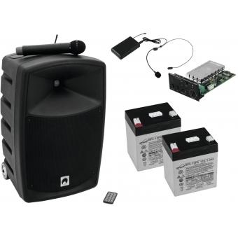 OMNITRONIC Set WAMS-10BT1 + headset + batteries