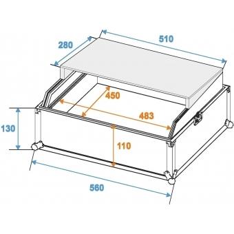 ROADINGER Mixer Case Pro LS-19 Laptop Tray bk #2
