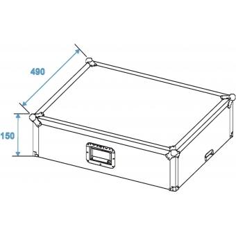 ROADINGER Mixer Case Pro LS-19 Laptop Tray bk #8